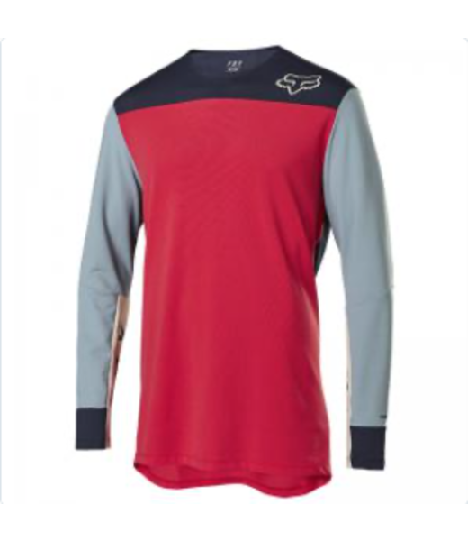 JERSEY FOX DEFEND DELTA LS  ROJO BRILLANTE M