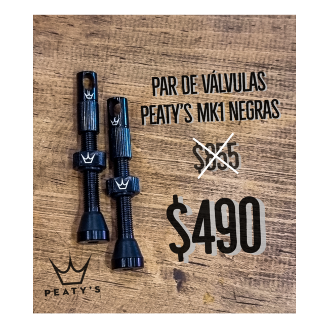 Peaty's x Chris King Tubeless Valve tub BLACK 42mm pair