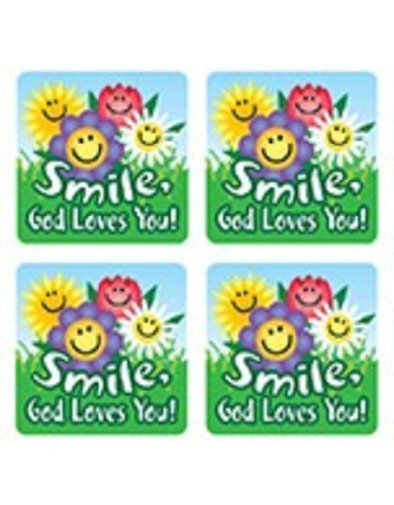 Smile, God Loves You! Scripture Stickers