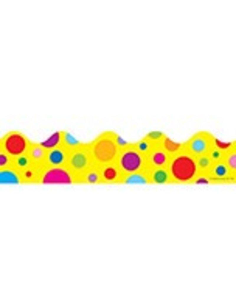 Colorful Dots Scalloped Border