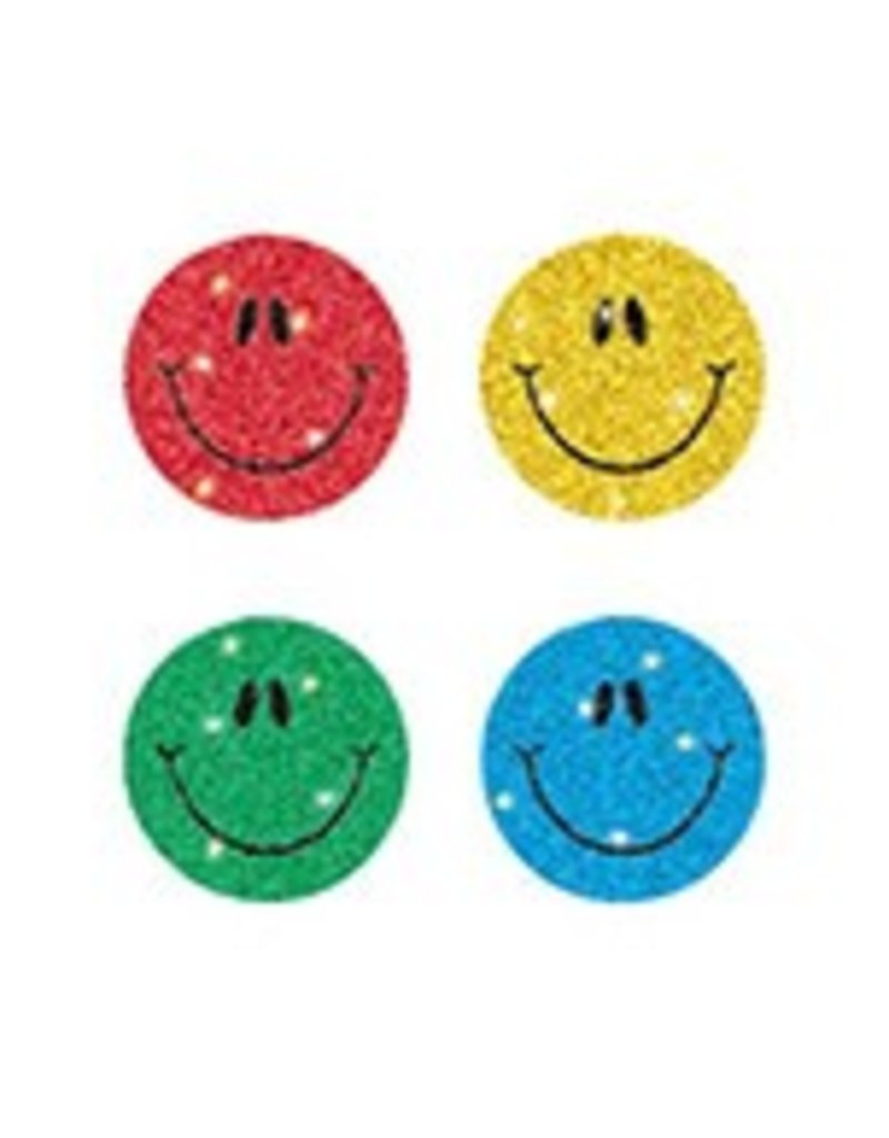 Multicolored Smiley Faces Dazzle™ Chart Seals