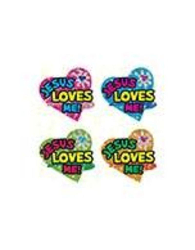 Jesus Loves Me! Dazzle™ Stickers