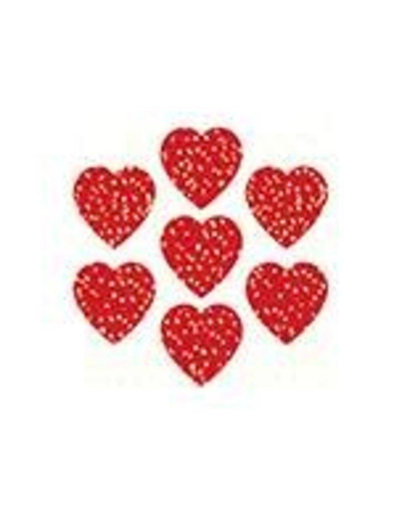 Red Hearts Dazzle Stickers