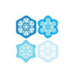 Snowflake Shape Stickers