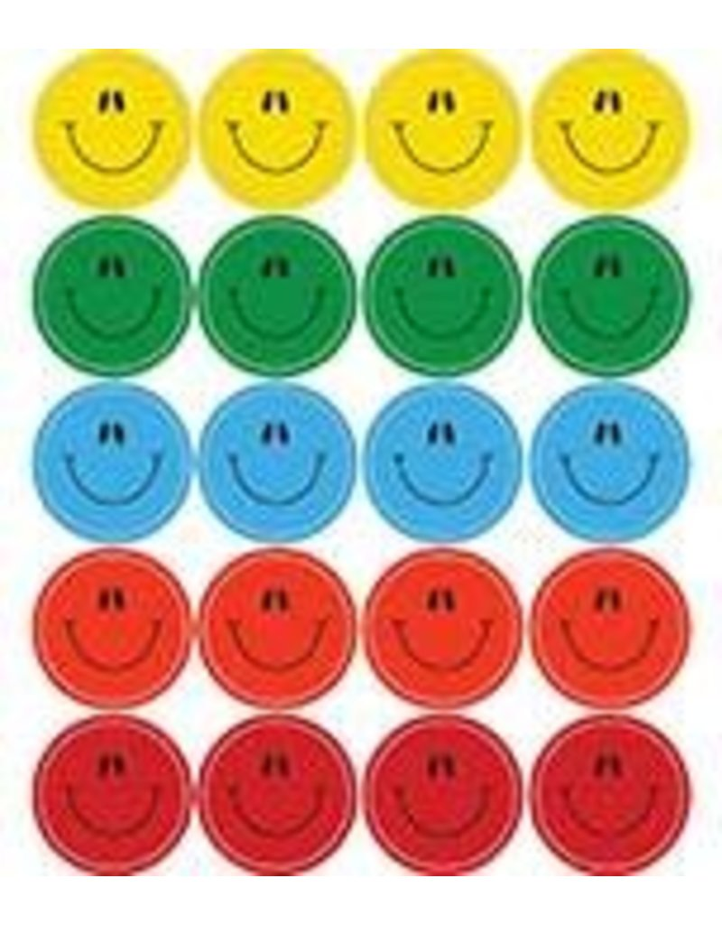Multicolored Smiley Faces Shape Stickers