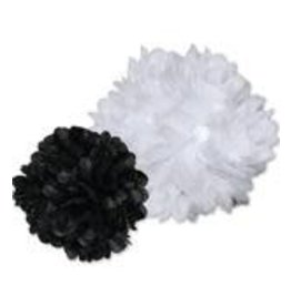 Black and White Pom-Poms