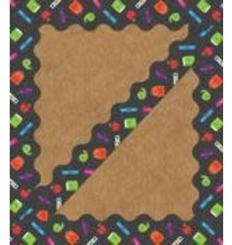 School Tools Ready for School Scalloped Borders