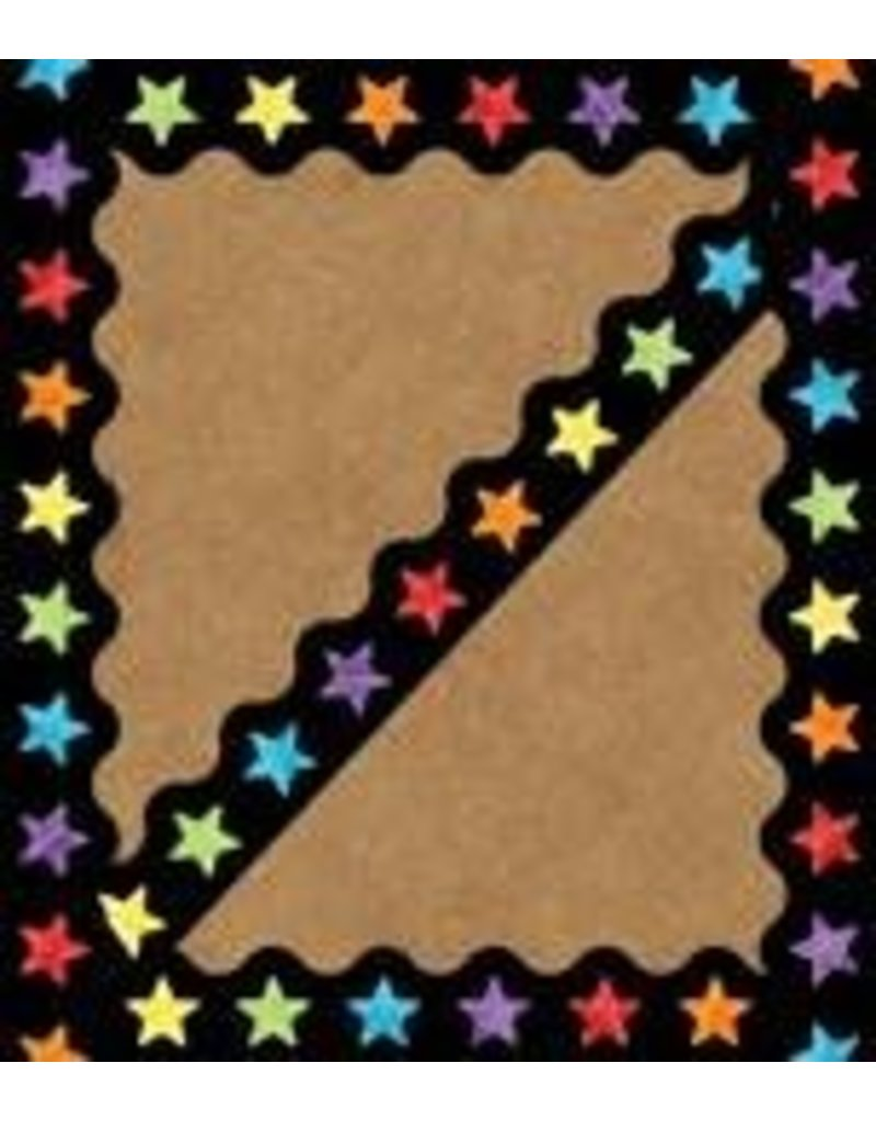 Celebrate Learning Watercolor Stars Scalloped Border