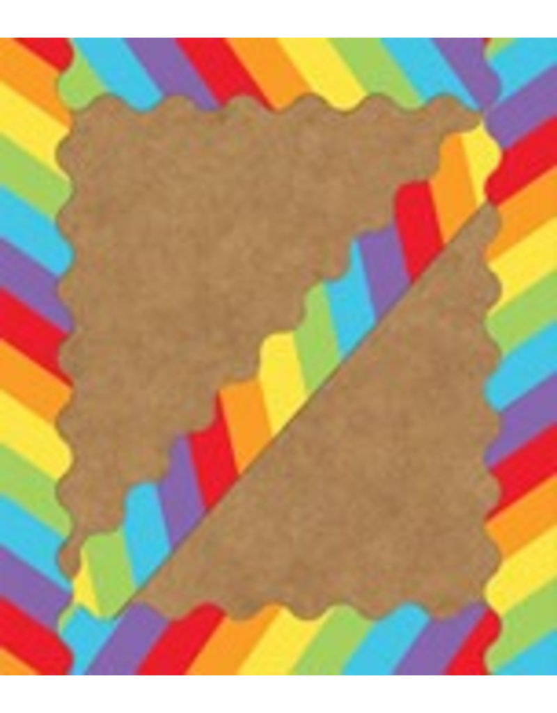 Celebrate Learning Big Rainbow Scalloped Borders