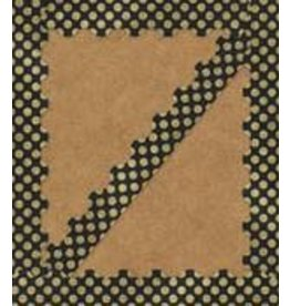Gold Glitter Dots Scalloped Border