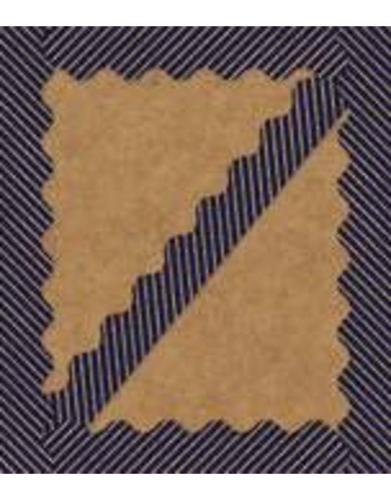 Gold Glitter & Navy Stripes Scalloped Border