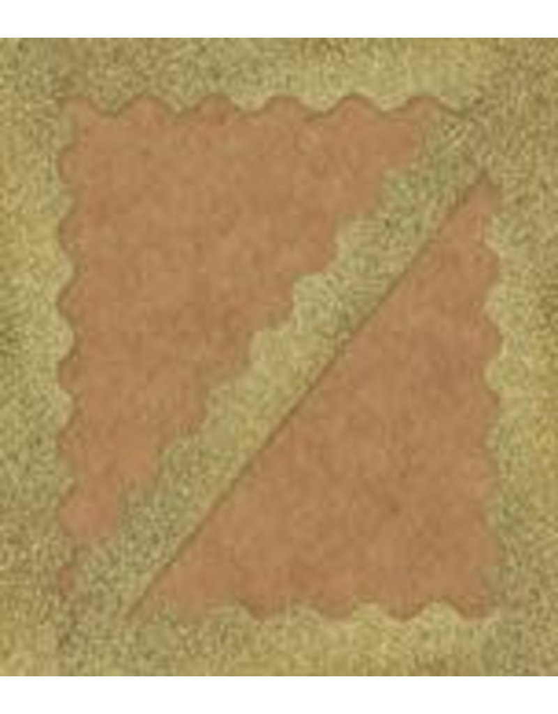 Gold Glitter Scalloped Border