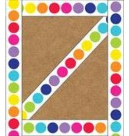 Rainbow Big Dots Straight Border