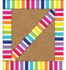 Vertical Rainbow Stripes Border