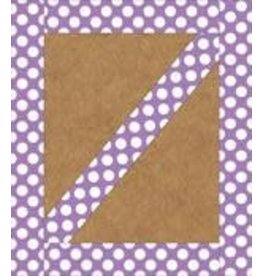 Purple with Polka Dots Straight Border