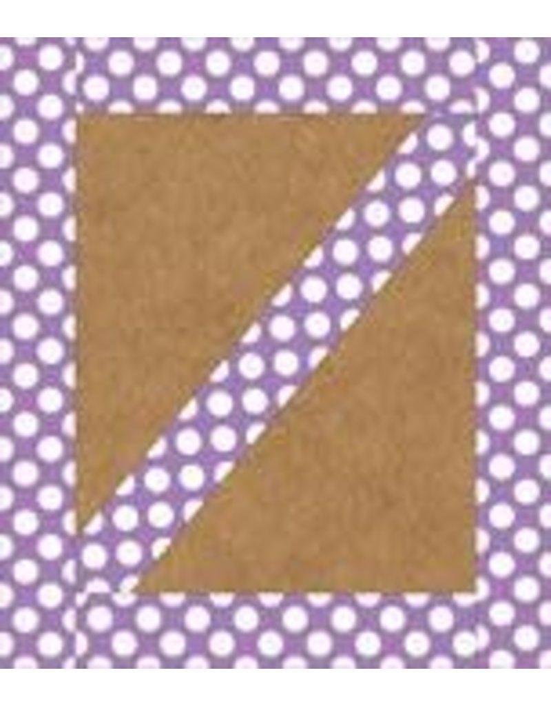 *Purple with Polka Dots Straight Border