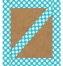 Teal with Polka Dots Straight Border
