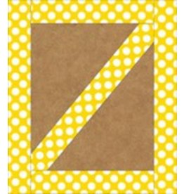 Yellow with Polka Dots Straight Border