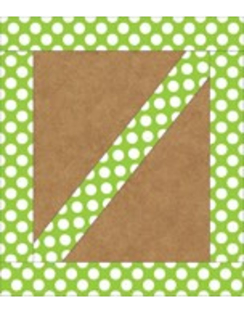 Lime with Polka Dots Straight Border