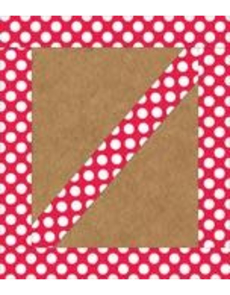 Red with Polka Dots Straight Border