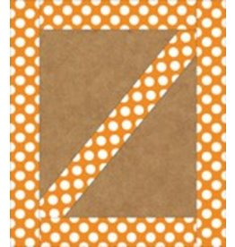 Orange with Polka Dots Straight Border