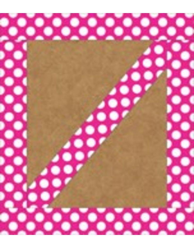Hot Pink with Polka Dots Straight Border