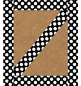 Black with Polka Dots Straight Border