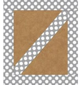 Gray with Polka Dots Straight Border