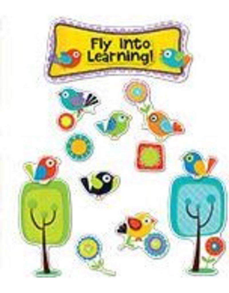 Boho Birds Fly into Learning Bulletin Board Set