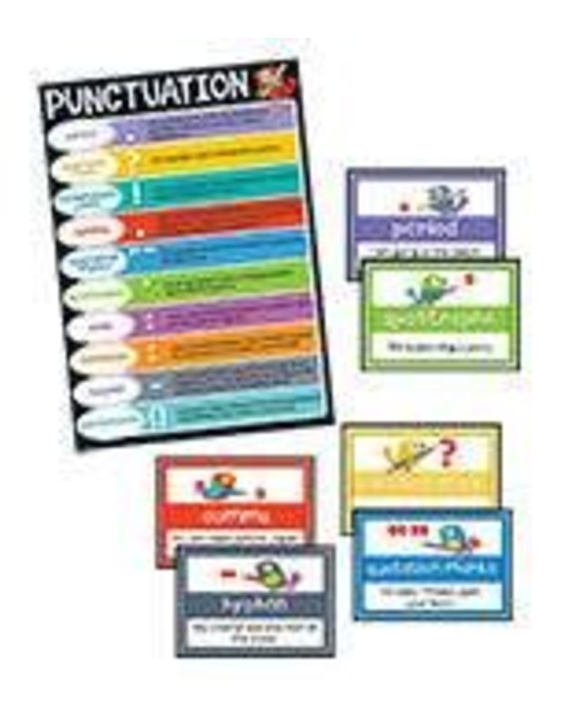 Boho Birds Punctuation Bulletin Board Set