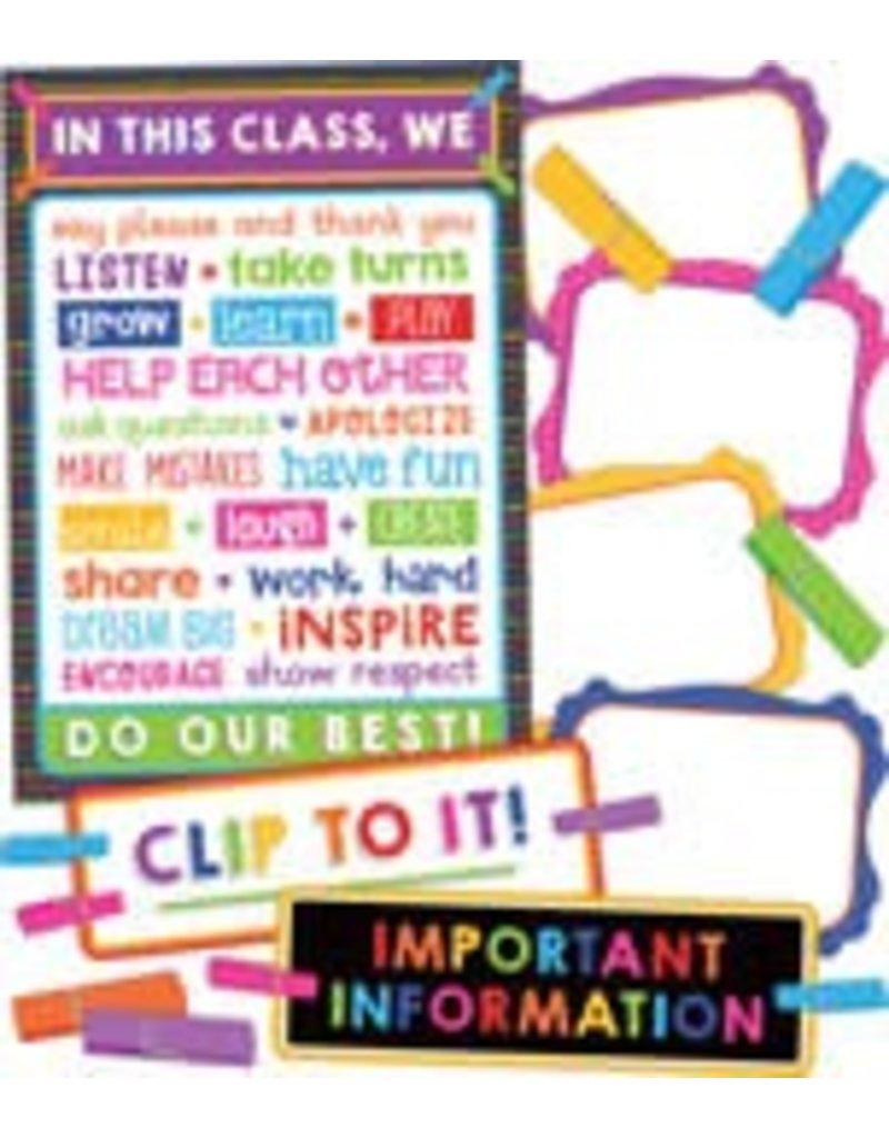 Clip Chart Classroom Management Bulletin Board