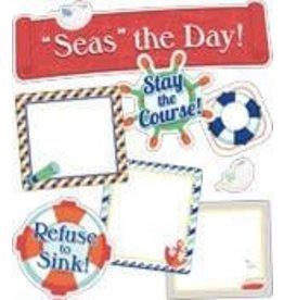 """S.S. Discover """"Seas"""" the Day! Mini Bulletin Board Set"""