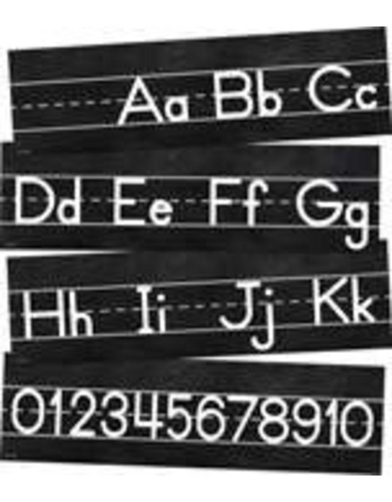 Industrial Chic Alphabet Line: Manuscript Mini Bulletin Board