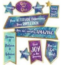 Galaxy Motivational Signs Mini Bulletin Board
