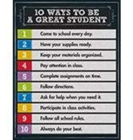 10 Ways..Great Student Chalkboard Chart