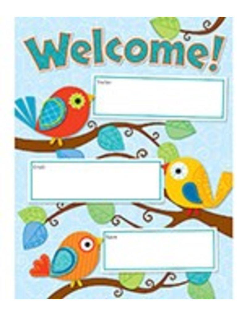 Boho Birds Welcome Chart