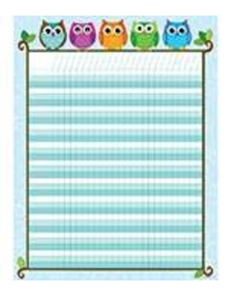 Colorful Owls Incentive Chart