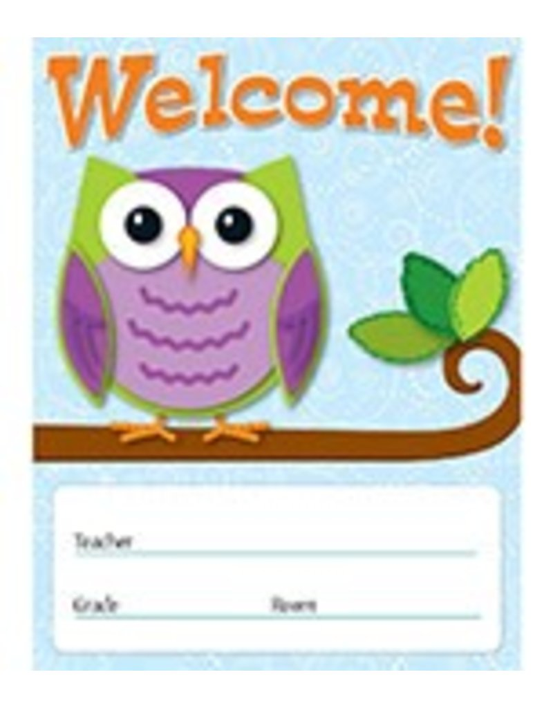 Colorful Owls Welcome! Chartlet