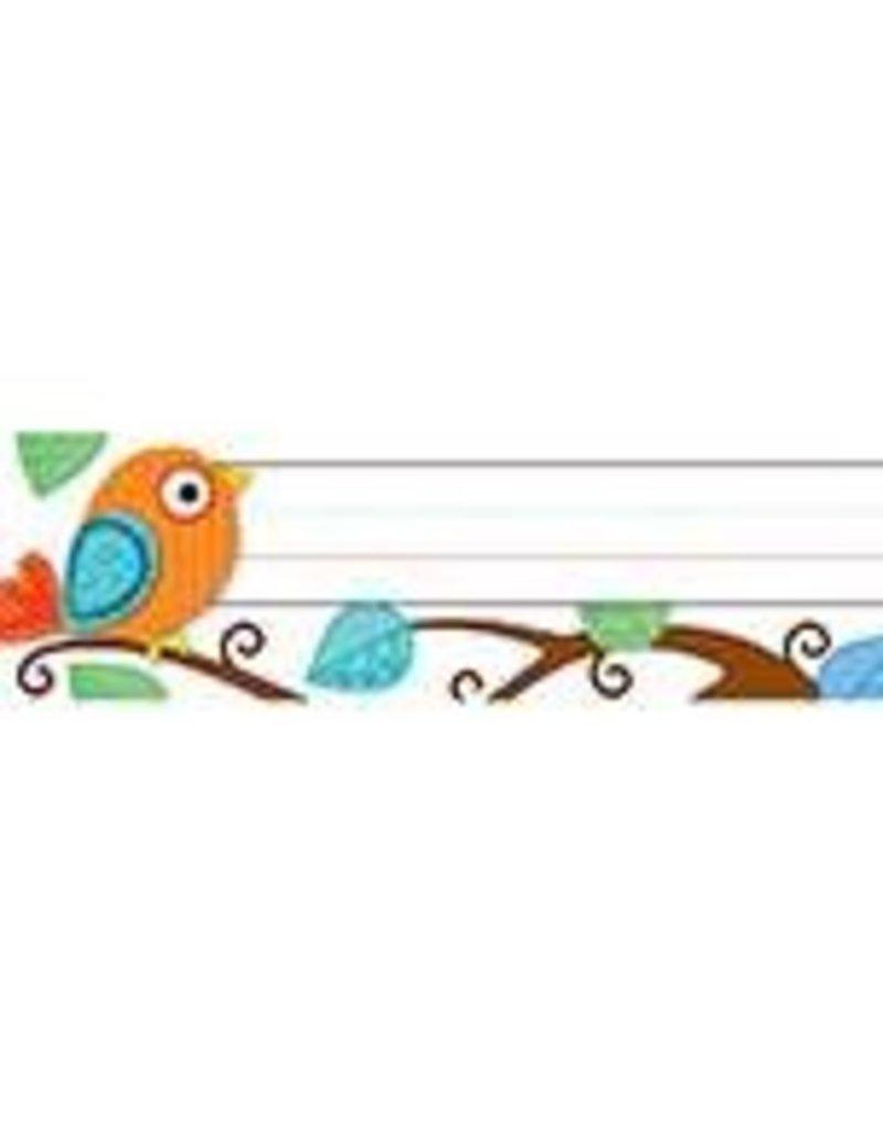 Boho Birds Quick Stick® Desk Nameplates