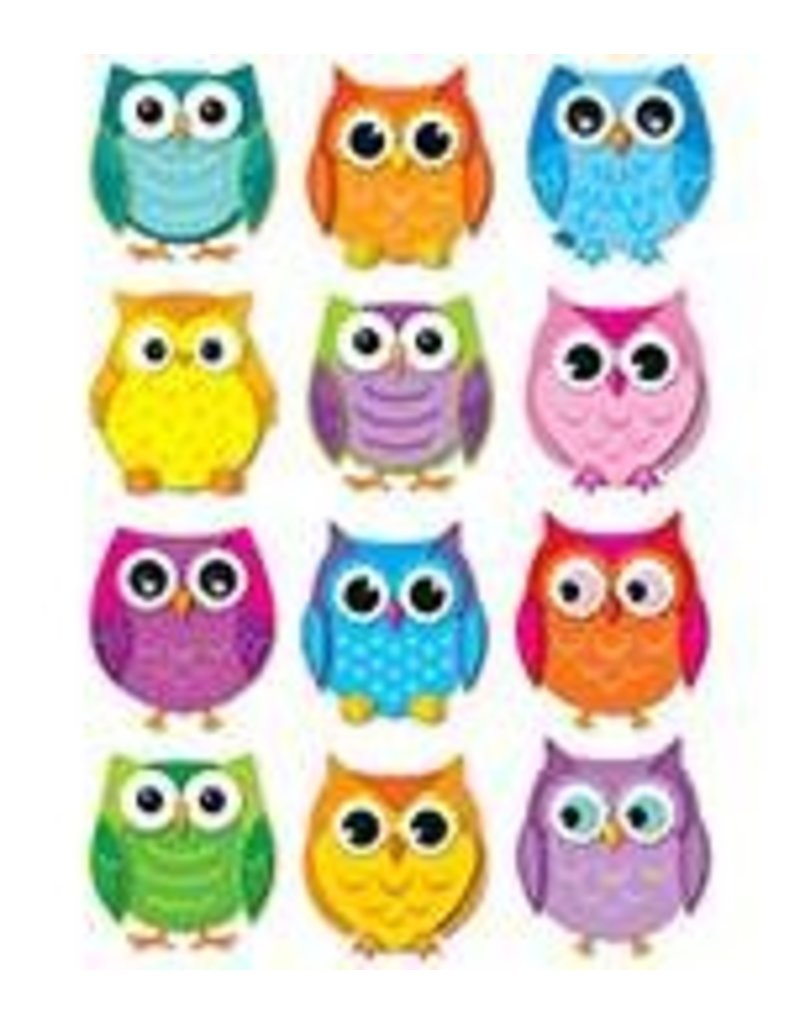 Colorful Owls Colorful CutOuts®