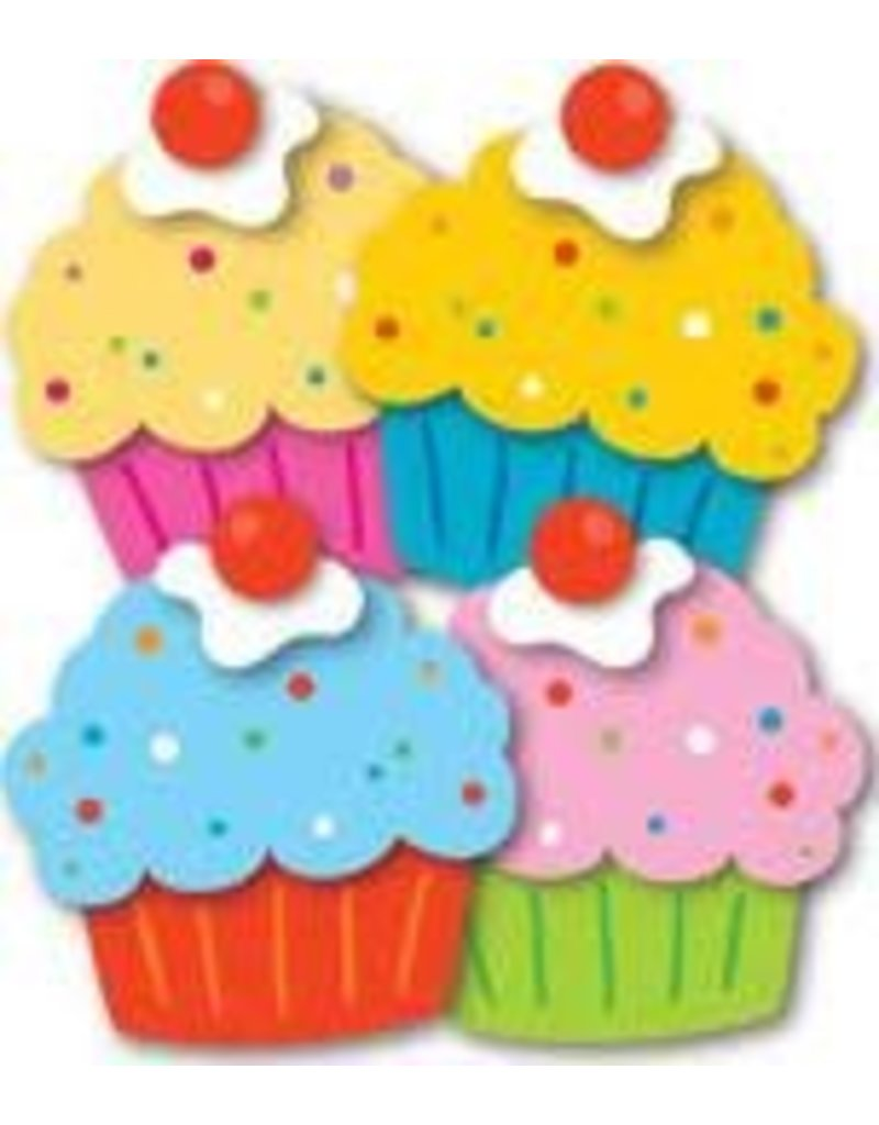 Cupcakes Colorful CutOuts®  Mini Assorted