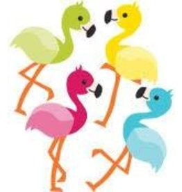 School Pop Flamingos Colorful CutOuts®  Mini Assorted