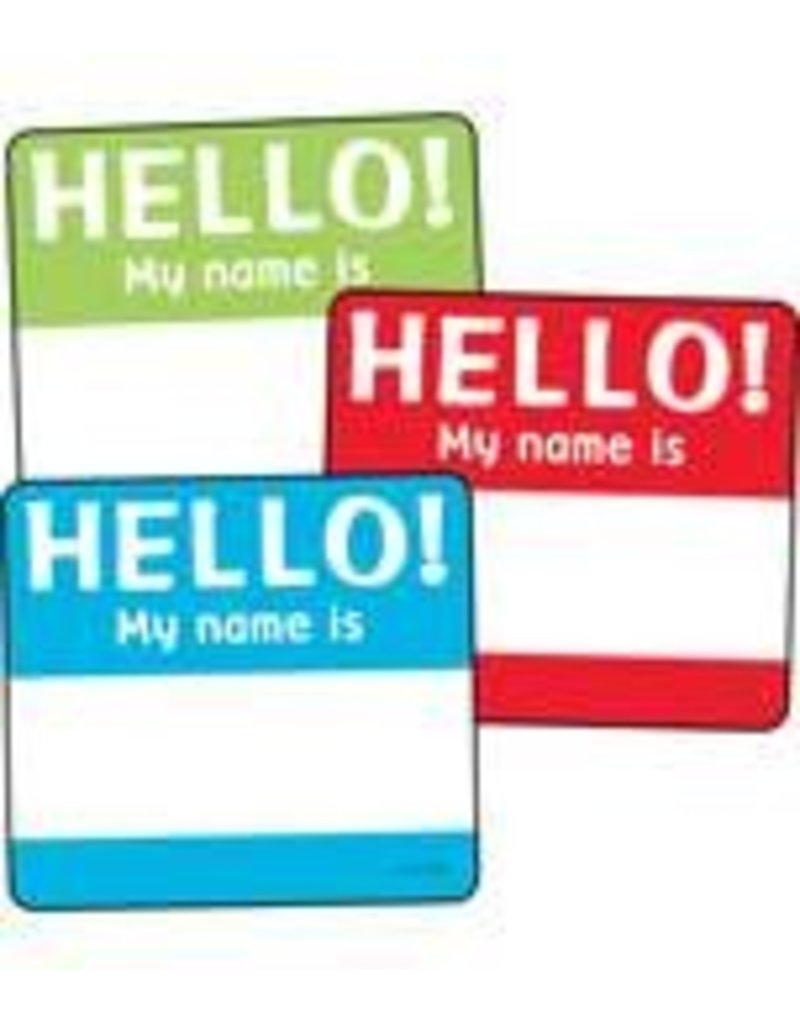 Hello Tags Colorful Cut-Outs Assorted