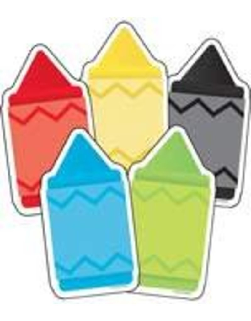Chunky Crayons Colorful Cut Outs