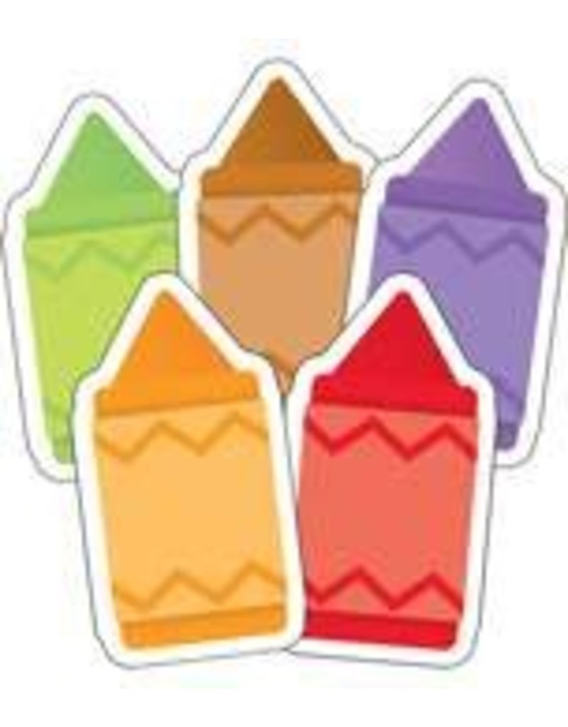 Crayons Mini Colorful Cut-Outs Assorted
