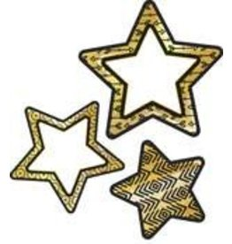 Black & Gold Stars Accents