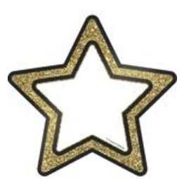 Gold Glitter Stars Accents