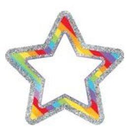 Rainbow Glitter Stars Accents