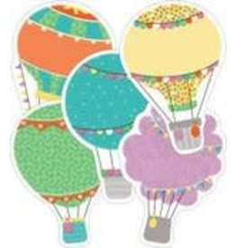 Up and Away Hot Air Balloons CutOuts Assorted