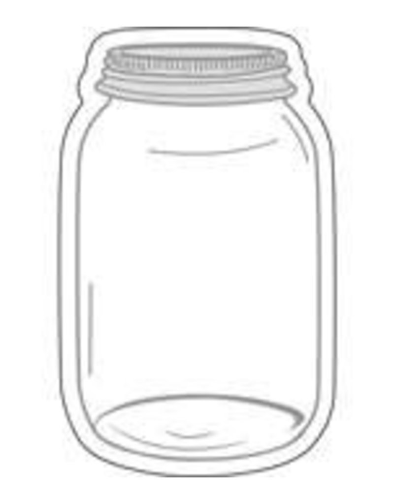 Industrial Chic Mason Jars Colorful Cut-Outs